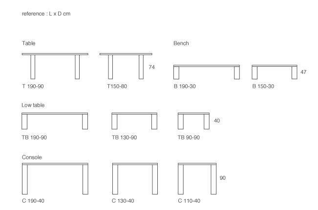 James Heeley Design, Standard Furniture Dimensions